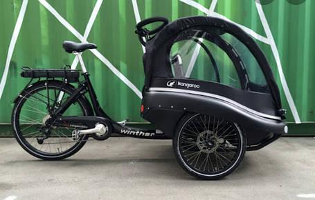 Электровелосипед kangaroo lite грузовой карго kargo 3-х колесный, фото 2