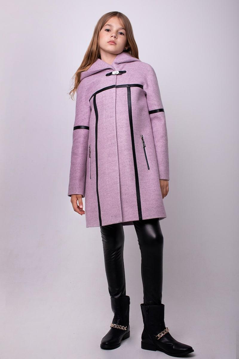 Кашемировое пальто Cvetkov Дорис Сирень
