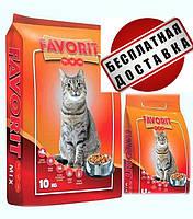 Корм пан кот Фаворит Микс Польша 11.5кг Птица Рыба Говядина, для кошек 11,5 кг(2 упаковки 10кг+1,5кг)
