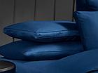 Постельный комплект евро 200*220 Египетский хлопок синий 500 TC Sarev Hermanus Home, фото 2