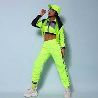 Подростковый, взрослый костюм для танцев джаз-фанк;Хип-хоп;R&B,костюм для танцев, коллективная одежда