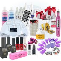 Стартовый набор для маникюра, дизайна ногтей, наращивания ногтей KODI Professional