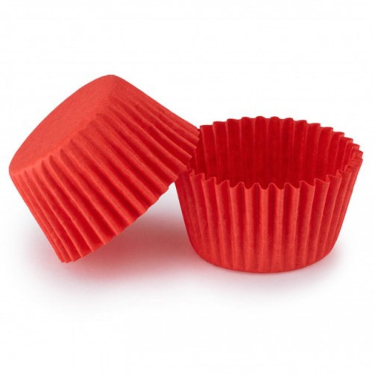 Паперові форми для цукерок 30х24 мм, червоні