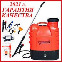 Садовый электро-опрыскиватель аккумуляторный FORTE CL-16a на 16 литров ранцевый