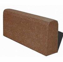 Бордюр гумовий (поребрик) 500х210х40 мм PuzzleGym коричневий