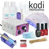 Стартовый набор для маникюра KODI Professional с лампой Sun One и фрезером Lina 25 000об/мин.