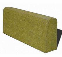 Бордюр гумовий (поребрик) 500х210х40 мм PuzzleGym жовтий