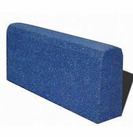 Бордюр гумовий (поребрик) 500х210х40 мм PuzzleGym синій