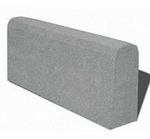 Бордюр гумовий (поребрик) 500х210х40 мм PuzzleGym сірий