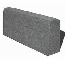 Бордюр гумовий (поребрик) 500х210х40 мм PuzzleGym темно-сірий