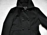 Черное женское пальто Шерсть Размер S / 44-46 Б/У Хорошее состояние, фото 6