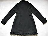 Черное женское пальто Шерсть Размер S / 44-46 Б/У Хорошее состояние, фото 8