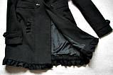 Черное женское пальто Шерсть Размер S / 44-46 Б/У Хорошее состояние, фото 5