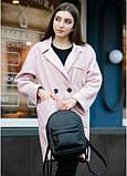 Жіночий модний міський рюкзак з екошкіри Sambag Brix MSH чорний практичний маленький міні стильний, фото 2