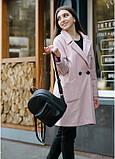 Жіночий модний міський рюкзак з екошкіри Sambag Brix MSH чорний практичний маленький міні стильний, фото 3