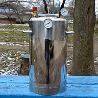 Автоклав для домашнего консервирования Люкс-32, с биметаллическим термометром, нержавеющая сталь