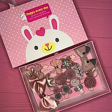 Набір дитячих аксесуарів для волосся з 17 предметів в подарунковій коробці M-277641