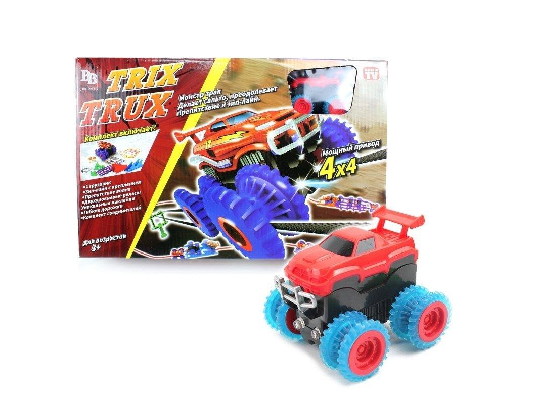 Lb Детский игрушечный автотрек Trix Trux с машинкой M-133923 трек для машинок конструктор