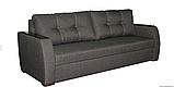 Диван-еврокнижка с ортопедическич матрасом СИТИ Спальный диван для повседневного сна Софа Серый, фото 2