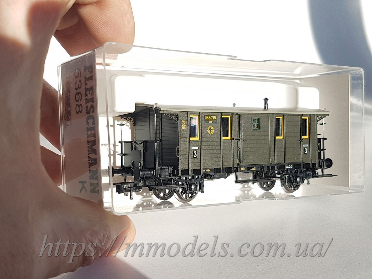 "Fleischmann 5368 модель грузопассажирского вагона ""Wechselwagen"""", принадлежности DRG ,масштаба  Н0 1:87"