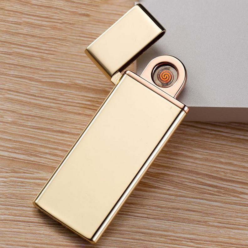 USB зажигалка ультратонкая Ultra Slim Gold 089_4