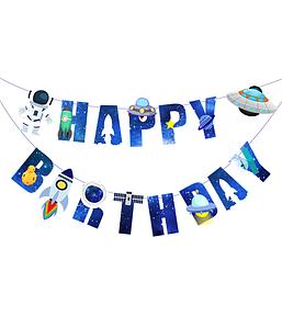 """Гирлянда """"Happy Birthday"""" в стиле космос"""