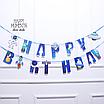 """Гирлянда """"Happy Birthday"""" в стиле космос, фото 2"""