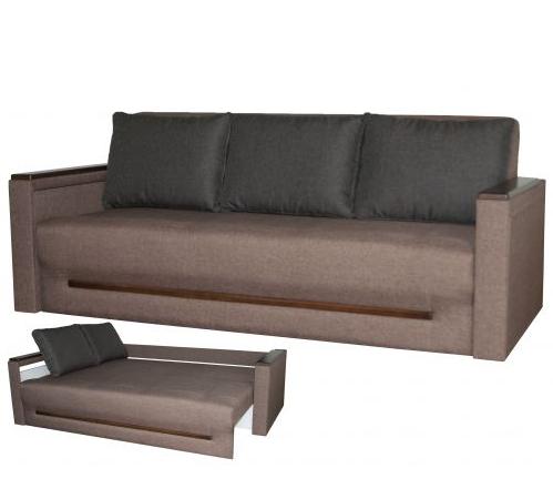 Прямой раскладной диван от производителя еврокнижка КОМФОРТ  Бежевый Диван-софа в гостиную