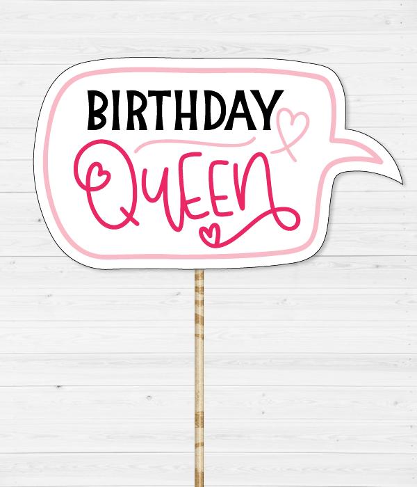 """Табличка для фотосессии """"Birthday Queen"""""""