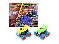 Детский игрушечный автотрек Trix Trux с 2 машинками Монстр трак M-133922 трек для машинок конструктор