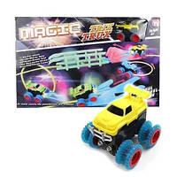 Детский игрушечный автотрек Trix Trux с машинкой Монстр трак M-133924 трек для машинок конструктор