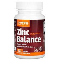 Цинк (Zinc Balance) 100 капсул, Jarrow Formulas