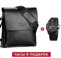 Мужская сумка через плечо Polo Videng, барсетка + подарок