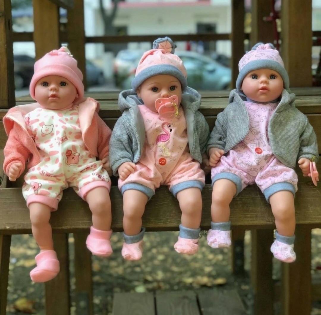Кукла-пупс мягконабивная говорящая Mій малюк 4014 UA , 45 см, соска, стих, песня