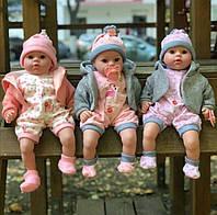 Кукла-пупс мягконабивная говорящая Mій малюк 4014 UA , 45 см, соска, стих, песня, фото 1