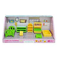 Набор мебели для кукол спальня 7 деталей TIGRES (39697)