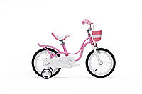 Детский велосипед Royal Baby Little Swan Steel RB16-18 РОЗОВЫЙ