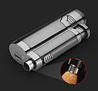 Электроимпульсная USB зажигалка Cigar point black 088_1, фото 2