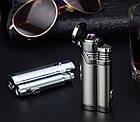 Электроимпульсная USB зажигалка Cigar point black 088_1, фото 3