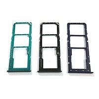Держатель SIM- карты и карты памяти для Samsung A207F Galaxy A20s/ A307 на 2 SIM- карты зелёный