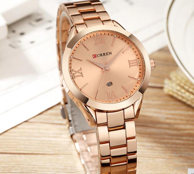 Розкішні позолочені годинники жіночі код 418