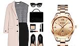 Роскошные позолоченные женские часы код 418, фото 4