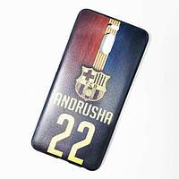 Чехол накладка (силикон) Print meizu m6 note Black именной andrusha 22