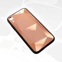 Накладка Rock 3D Crystal Apple iPhone XR rose gold