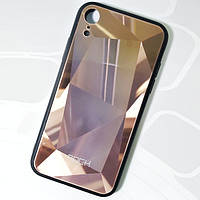 Накладка Rock 3D Crystal Apple iPhone XR gold