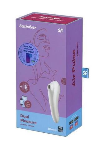 Вакуумный клиторальный стимулятор Satisfyer Dual Pleasure White, фото 2