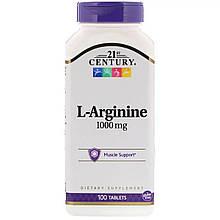 Аминокислота 21st CenturyL-Arginine 1000 mg 100 таблеток