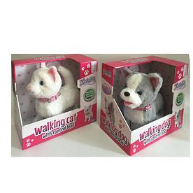 Мягкая игрушка кот и собака MP 2181, ходит, виляет хвостом