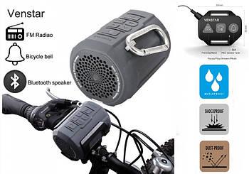 Venstar S404 Велосипедная Колонка 2100mAh / FM радио / MicroSD / Bluetooth + Пульт / Клаксон / Вело Крепление