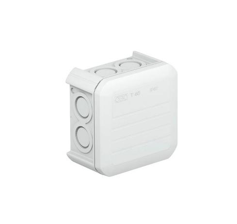 Коробка распределительная наружная Т40 90х90х52 IP55 OBO Bettermann цвет белый